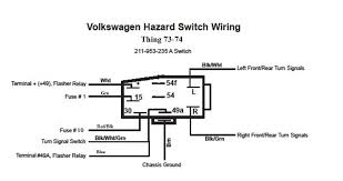 vw bug headlight switch wiring vw image wiring diagram thesamba com thing type 181 view topic emergency hazard on vw bug headlight switch wiring
