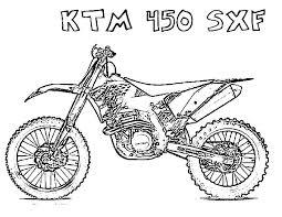 Kleurplaat Crossmotor Ktm Ausmalbilder Motorrder Malvorlagen