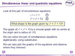 a5 simultaneous equations ppt quadratic equation solver screenshot