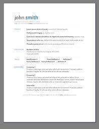 Primers 6 Free Resume Templates Open Template Downl Adisagt