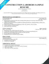 General Labor Resume Template General Labor Resume