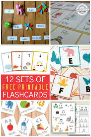 12 Sets of Free Printable Flashcards - Kids Activities