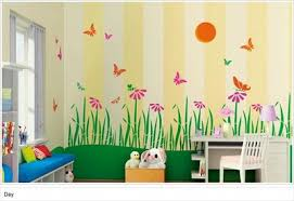 ... Painting Kids Rooms Kids Room Paintings Wood Furniture And Comfy Brown  Colors Shades Of Yellow Color ...