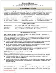 Programmer Resume Sample Resume Sample For Computer Programmer Therpgmovie 25