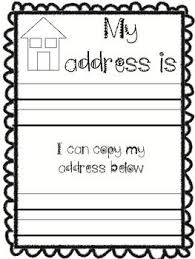 Whats My Address And Phone Number Kindergarten Back To School