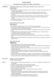 Resume Education Examples Education Leader Resume Samples Velvet Jobs