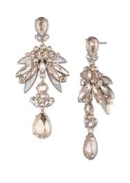 givenchy simulated pearl and crystal chandelier earrings