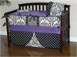 black and purple crib bedding