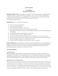 Youth Minister Resume Youth Pastor Resumes Resume For Study Shalomhouseus 16