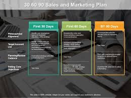 30 60 90 Sales And Marketing Plan Template Presentation