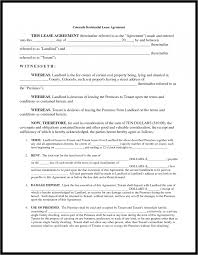 lease agreement format rental agreements templates template it