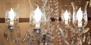 etched hurricane shade crystal 5 arm chandelier rockwell antiques dallas