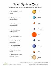 solar system quiz solar system worksheets and solar worksheets solar system quiz