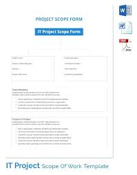 sample scope of work scope of work document template btcromania info