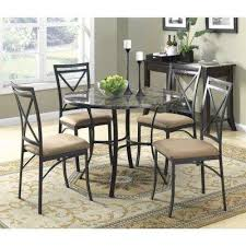 black coffee faux marble top dining room set 5 piece