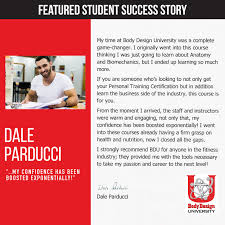 Body Design University 27 Best Student Testimonials Images Student Personal