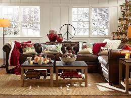 room decorating ideas pottery barn decorate with brown leather couches