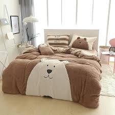 bear bedding sets cute dog bear bed linen signer winter warm bedding sets cashmere bedding set