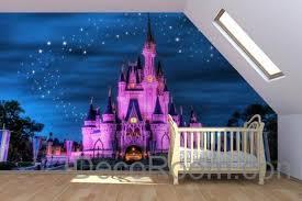 disney wallpaper for bedrooms. 3d purple pink disney princess dream castle wallpaper wall paper decals art print mural for bedrooms o