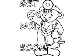 Get Well Soon Coloring Pages Printable Cards Top Free Thanksgiving