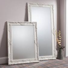 large ornate cream mirror james style