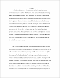 the great gatsby essay the reality in the great gatsby many  this preview has intentionally blurred sections sign up to view the full version