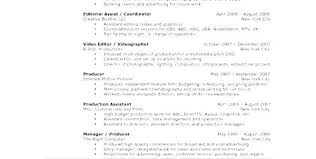 Video Editor Resume Template Copy Sample Runner Cv Example Resume