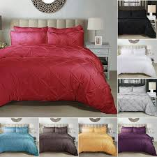 details about luxurious solid color duvet cover bedding set w pillowcase twin full queen king