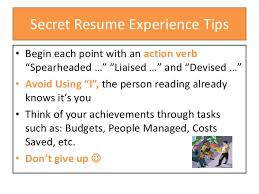 How To Write A Resume Experience to write your professional experience on your resume 85