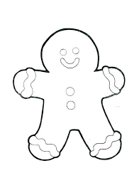 Gingerbread Girl Coloring Pages Lineart 91 Get Coloring Page