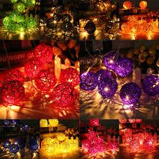 35 Light Strand Christmas Lights 35 Led Rattan Ball String Light Home Garden Fairy Colorful Lamp Wedding Party Xmas Decor