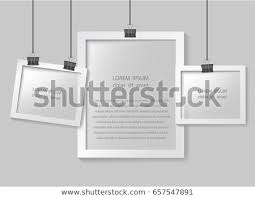 Paper Picture Frame Templates Paper Photo Frames Composition Vector Photo Stock Vector Royalty
