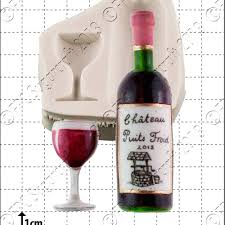 fpc moulds wine bottle glass cake decorating silicone mould