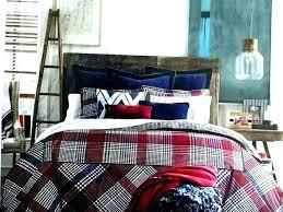 tommy hilfiger bed set bed set bedding sets bedding bedding set buckaroo plaid navy red cream