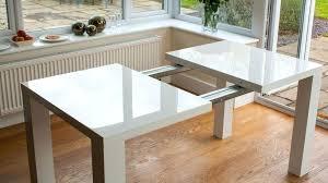 white gloss dining table sleek and elegant white gloss rectangle expandable dining table oslo 120cm white