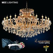 chandeliers maria theresa chandelier large amber gold color crystal luxurious classic hanging lamp for home