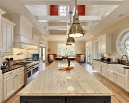 white granite countertops with maple cabinets