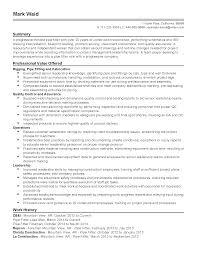 Adorable Sample Resume Welding Supervisor On Pipefitter Resume