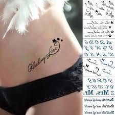 Vodotěsný Dočasné Tetování Nálepka Láska Srdeční Tep Falešné Tatto