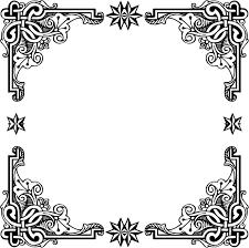 vintage black frame png. Wonderful Black Vintage Symmetric Frame With Black Png T