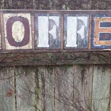 large 4 ft rustic coffee sign wood metal letters 11 1