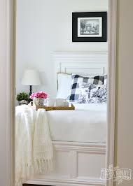 cottage bedroom design. A Black And White Farmhouse Cottage Bedroom Design With Buffalo Plaid \u0026 Toile