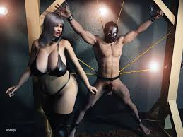 Men and women in bondage