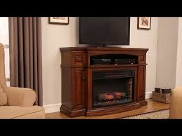 chimneyfree 60 midway electric fireplace entertainment center in midnight oak finish at menards