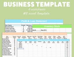 Profit Spreadsheets Business Excel Template Profit Loss Inventory Expense By Pixel26