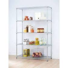 decorative shelving units d 5 tier chrome wire wall
