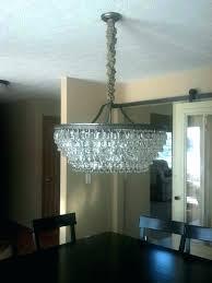 clarissa rectangular chandelier pottery barn chandelier glass drop clarissa glass drop extra long rectangular chandelier installation