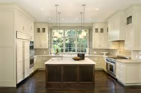 Kitchen With Islands Designs Wooden Kitchen Design With Large Island And Large Stainless Oven