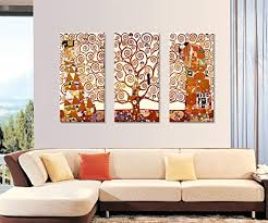 amazon wall26 tree of life canvas print by gustav klimt 3 panels abstract canvas wall art 24 x36 posters prints on canvas wall art tree of life with amazon wall26 tree of life canvas print by gustav klimt 3