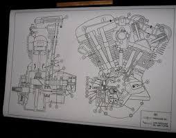 details about harley davidson shovelhead engine oil map blueprint harley davidson shovelhead engine oil map blueprint drawing poster print fl fx diagram harleydavidson